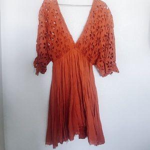 Free People Rust Dress